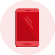 Red Android Phone icon