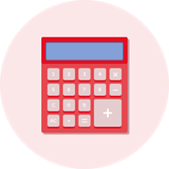 Red Calculator Graphic