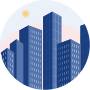 commercial skyscrapers icon