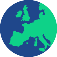 world map of Europe icon