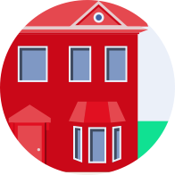 Metro bank red home icon