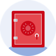 Red Safety Deposit Box Icon
