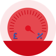 Savings scale indicator icon